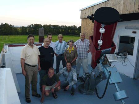 Gruppenfoto Sternwarte